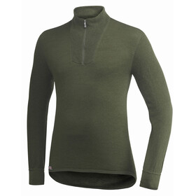 Woolpower Unisex 200 Zip Turtleneck pine green